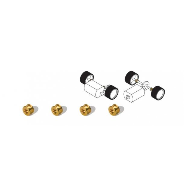 Scalextric 8407 Brass Bush Bearings